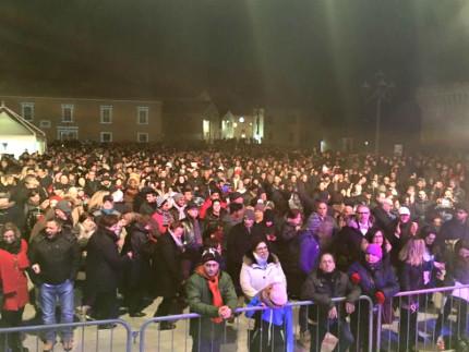 Pienone in piazza del Duca, a Senigallia, per il capodanno 2016