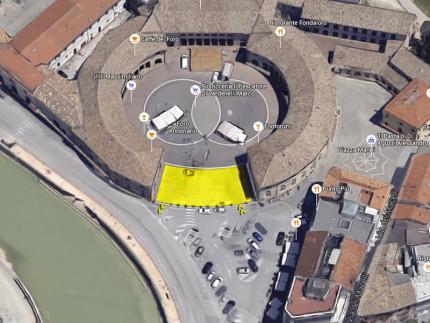 Proposta per un'area di parcheggio veloce al Foro Annonario