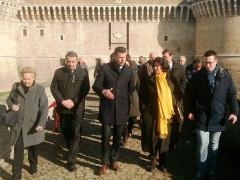 La visita del sottosegretario alla cultura Ilaria Borletti Buitoni alla Rocca roveresca di Senigallia