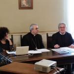 Mons. Francesco Manenti, don Gesualdo Purziani e Laura Mandolini incontrano gli operatori della comunicazione