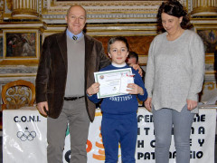 Filippo Zazzarini (Senigallia Skating Club) premiato a Fabriano