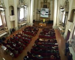 Il pubblico dell'incontro all'auditorium San Rocco di Senigallia con Karim Franceschi