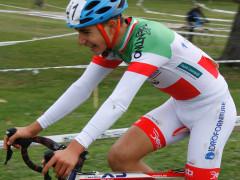 Foto (di Lanfranco Passarini): Gabriele Torcianti trionfa nel Campionato Italiano Ciclocross ospitato nella località friulana di Monte Prat