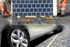 Superficie stradale rivestita di pannelli fotovoltaici