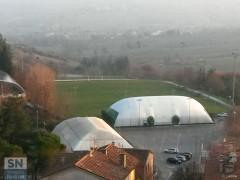L'impianto sportivo di calcio a Corinaldo