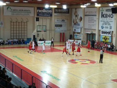 Pallacanestro, un momento del match tra Senigallia e Taranto