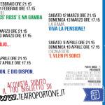 Il programma del festival dialettale al teatro Portone di Senigallia