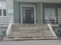 L'ingresso dell'ambulatorio di odontoiatria all'ospedale di Senigallia