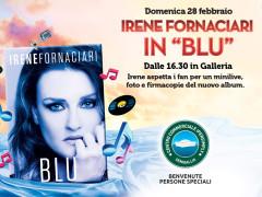 """Irene Fornaciari in """"Blu"""" all'Ipersimply di Senigallia"""