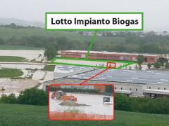 Il lotto di terreno in zona Zipa a Casine di Ostra alluvionato nel maggio 2014: lì è prevista la costruzione dell'impianto a biogas
