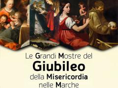 La locandina delle quattro mostre organizzate dalla Regione Marche per il giubileo della misericordia nel 2016