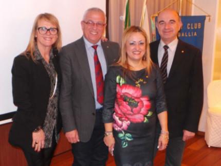 Rossana Berardi ospite del Rotary