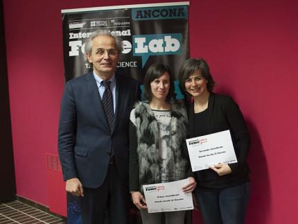 Famelab 2016 ad Ancona: le vincitrici della selezione regionale assieme al rettore Univpm Longhi