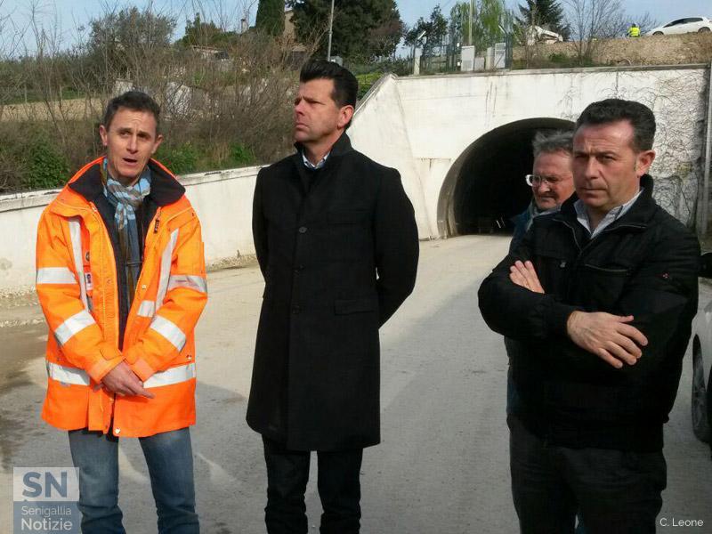 Sopralluogo sulla nuova bretella che completerà la complanare di Senigallia