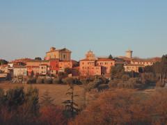 La frazione senigalliese di Scapezzano al tramonto