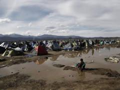 Il campo profughi di Idomeni