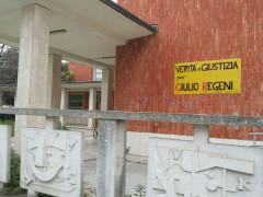 Striscione per Giulio Regeni al Liceo Perticari