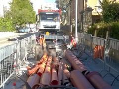 I lavori in via Spontini, a Senigallia