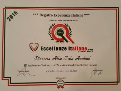 Eccellenze Italiane - Certificazione Pizzeria Aculmò