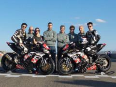 Federico Sanchioni col suo team