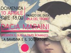 L'invito alla presentazione del libro di Dacia Maraini a Senigallia