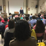 L'incontro con Luigi Dal Cin all'istituto Fagnani per la giornata mondiale della consapevolezza sull'autismo
