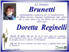 Manifesto funebre in memoria di Doretta Reginelli
