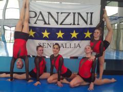 Le alunne del Panzini che hanno paretcipato al Gymfestival