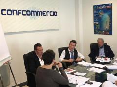 L'incontro nella sede di Confcommercio Senigallia con il vicesindaco Memè sul piano degli arenili