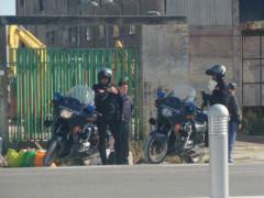 Carabinieri all'ex Montedison di Falconara