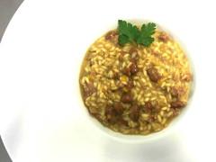 Risotto con fagioli e salsiccia