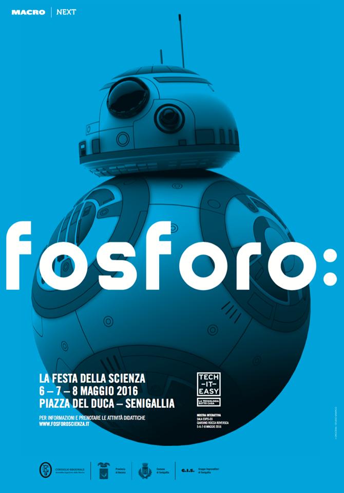 Il manifesto di Fosforo 2016, la festa della scienza di Senigallia