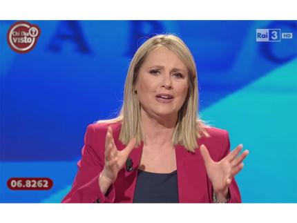 """Federica Sciarelli, conduttrice della trasmissione di Rai3 """"Chi l'ha visto?"""""""