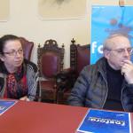 La presentazione di Fosforo 2016, la festa della scienza di Senigallia: da sinistra Giommetti, Pasquini