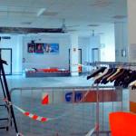 Il controsoffitto crollato al Centro Sociale di Marina di Montemarciano