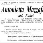 Manifesto funebre per Antonietta Mazzaferri