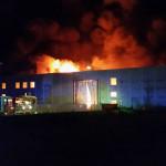 Incendio capannone in via Guidi alla Cesanella