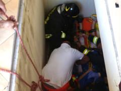 Le operazioni di soccorso in un'abitazione di Belvedere Ostrense. Foto per gentile concessione dei Vigili del Fuoco