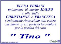 Manifesto di ringraziamento della famiglia Fiorani