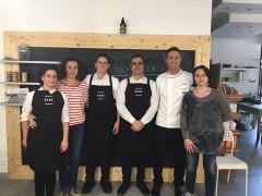 Michele Gilebbi a Fabriano con staff e Associazione Cuochi Ancona