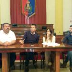 Enzo Monachesi, Maurizio Mangialardi, Chantal Bomprezzi e Lorenzo Beccaceci