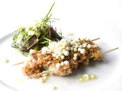 Calamaretti Rimini Fest e succo di granchio - Ricetta Mauro Uliassi