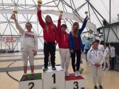 Primo posto per Matilde Calvanese (Club Scherma Jesi) nella spada femminile ai campionati regionali di Osimo