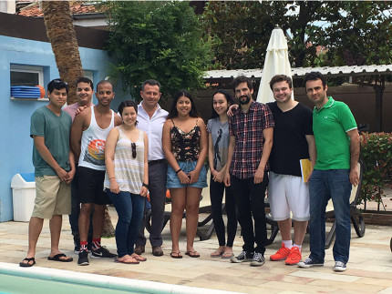 Studenti statunitensi a Senigallia per corso di lingua e cultura italiana, insieme a Maurizio Memè e a Devid Paolini