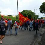 Corteo metalmeccanici lungo le strade di Senigallia
