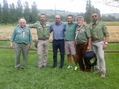 Il grupo CNGEI di Senigallia assieme al presidente del consiglio regionale