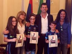 I giovani atleti del Team Roller Senigallia ricevuti in municipio
