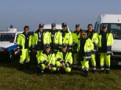 I volontari dei gruppi di Protezione Civile di Senigallia