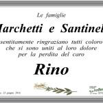 Manifesto di ringraziamento delle famiglie Marchetti e Santinelli