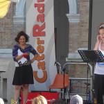 Sara Zambotti e Marta Zoboli sul palco di Caterpillar